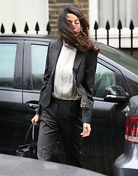 © Licensed to London News Pictures. 05/10/2015. London, UK. Lawyer AMAL CLOONEY arrives at Doughty Street Chambers. Photo credit: Peter Macdiarmid/LNP