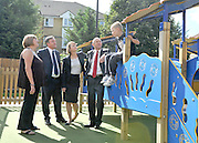 SOUTH BERMONDSEY, LONDON:  (L-R) Gillian Warren (resident) Ed Balls, Yvette Cooper, John Healey, Alfie Warren (resident)  Ed Balls, Labour Leadership candidate joins shadow housing minister John Healey and  shadow work and pensions secretary Yvette Cooper  during a visit to a housing development, The Falcon Works development, in central London on 31 August 2010. STEPHEN SIMPSON..