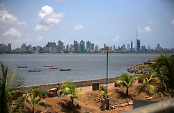 INDIA MUMBAI 29MAY10 - Skyline of downtown Mumbai, seen from Bandra...jre/Photo by Jiri Rezac..© Jiri Rezac 2010