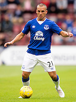 Everton's Leon Osman  during the pre-season friendly at Tynecastle Stadium, Edinburgh.