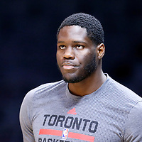 22 November 2015:  Toronto Raptors forward Anthony Bennett (15) warms up prior to the Toronto Raptors 91-80 victory over the Los Angeles Clippers, at the Staples Center, Los Angeles, California, USA.
