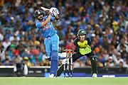 Virat Kohli hits over mid-wicket. T20 international, Australia v India. Sydney Cricket Ground, NSW, Australia, 25 November 2018. Copyright Image: David Neilson / www.photosport.nz