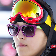 Xuetong Cai, China, winner of the Ladies Half Pipe Finals in the LG Snowboard FIS World Cup, during the Winter Games at Cardrona, Wanaka, New Zealand, 28th August 2011. Photo Tim Clayton