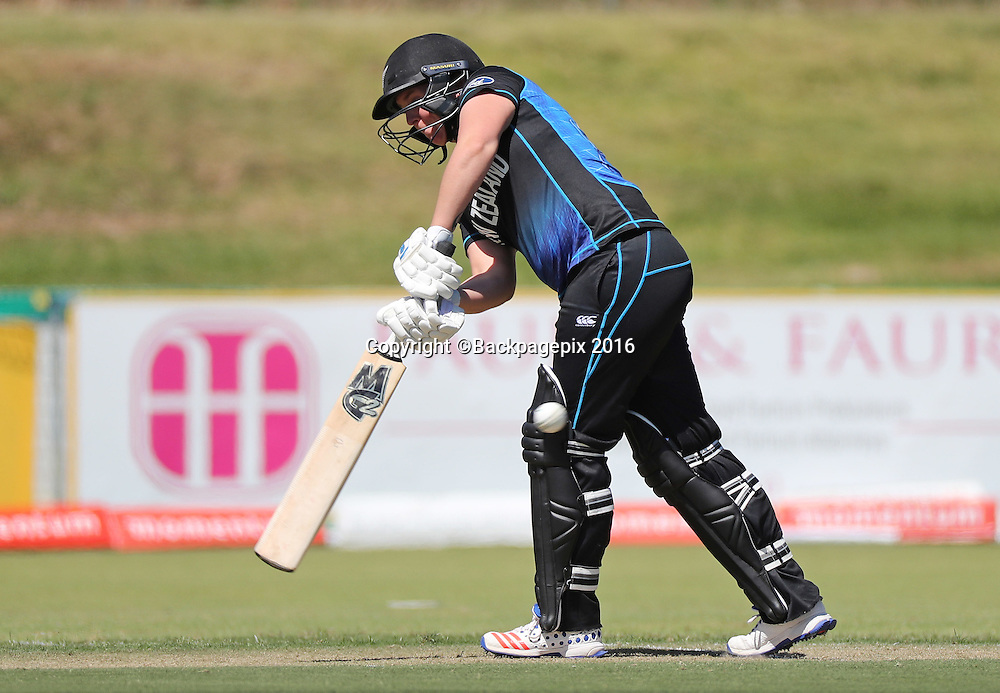 Rachel Priest of New Zealand bats during the 2016 International ODI Womens cricket match between South Africa and New Zealand at Boland Park, Paarl on 16 October 2016 ©Chris Ricco/BackpagePix