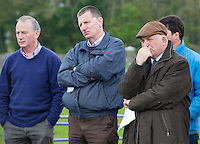Frank Kelly Teagasc, Denis Carroll, Killarney, Co Kerry and Prof Gerry Boyle, Teagasc Director  at the lauch of Sheep 2012.the launch of Sheep 2012. Photo:Andrew Downes