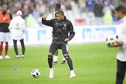 May 28, 2018 - St Denis, France, France - echauffement de l equipe de France sous la pluie.Kylian Mbappe  (Credit Image: © Panoramic via ZUMA Press)