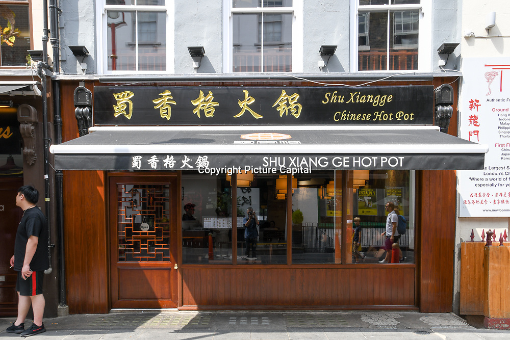 Shu Xiang Ge - Hot Pot Chinese restaurants in Chinatown London on July 19 2018, UK