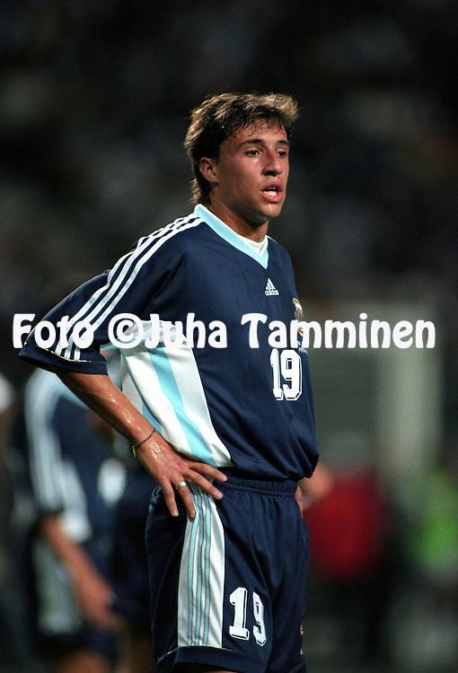 FIFA World Cup - France 1998.Hern?n Crespo - Argentina.©Juha Tamminen