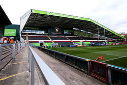 A general view of Welford Road Stadium, home to Leicester Tigers ahead of the Premiership Rugby Cup fixture with Worcester Warriors - Mandatory by-line: Robbie Stephenson/JMP - 03/11/2018 - RUGBY - Welford Road Stadium - Leicester, England - Leicester Tigers v Worcester Warriors - Gallagher Premiership Rugby