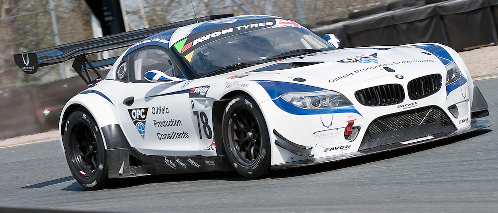 Barwell Motorsport, Ron Johnson & Piers Johnson, BMW Z4 GT3, GT3 - during qualifying and practice at the first round of the Avon Tyres British GT Championship held at Oulton Park, Cheshire, UK.  30th March 2013 WAYNE NEAL | STOCKPIX.EU