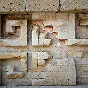 Detail of stone carvings at Mitla archelogical site