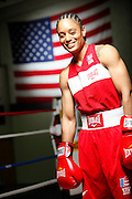 6/24/11 2:51:17 PM -- Colorado Springs, CO. -- A portrait of U.S. Olympic lightweight boxer Queen Underwood, 27, of Seattle, Wash. who will be competing for her fifth title. She began boxing in 2003 and was the 2009 Continental Champion and the 2010 USA Boxing National Champion. She is considered a likely favorite to medal at the 2012 Summer Olympics in London as women's boxing makes its debut as an Olympic sport. -- ...Photo by Marc Piscotty, Freelance.