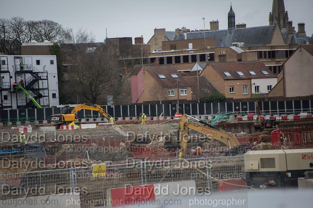 Building development, Westgate, Oxford, 10 December 2015