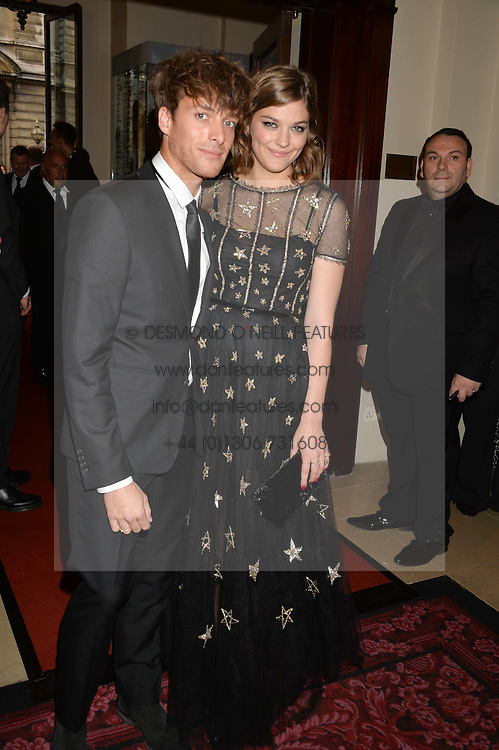 PAOLO NUTINI and AMBER ANDERSON at the GQ Men Of The Year 2014 Awards in association with Hugo Boss held at The Royal Opera House, London on 2nd September 2014.