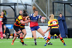 Lucy Atwood of Bristol Bears Women tries to get past Braunerova of Richmond Women- Mandatory by-line: Nizaam Jones/JMP - 23/03/2019 - RUGBY - Shaftesbury Park - Bristol, England - Bristol Bears Women v Richmond Women- Tyrrells Premier 15s