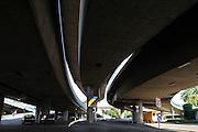 Schnellstraßen-Brücken Rheinstraße, verkehrsgerechte Stadt, Mannheim, Baden-Württemberg, Deutschland | highway bridges, Mannheim, Baden-Wurttemberg, Germany