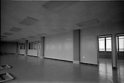 12/07/1967<br /> 07/12/1967<br /> 12 July 1967<br /> Partitions at Norwich Union Building, Nassau Street, Dublin. Image shows partition walls being installed. Note the door frames waiting to be hung in the lower left corner.