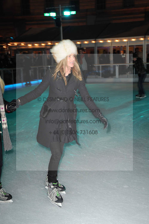 TRINNY WOODALL at a Winter Party given by Tiffany & Co. Europe to launch the 10th season of Somerset House's Ice Skating Rink at Somerset House, The  Strand, London on 16th November 2009.