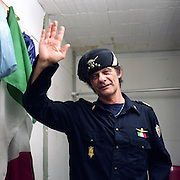 Claudio is 52, he declares himself a real fascist. He's a great lover of Mussolini since he was 7 when he visited the birthplace of the Duce for the first time. Claudio lived as a general outlaw man since ever, then he was also involved in political terrorism during the '70ies. He spent a total of 25 years in jail, in almost all the main Italian prisons. At the moment he lives in the basement of the restaurant where he is working, thanks to a special program of re-integration of long time imprisoned people.