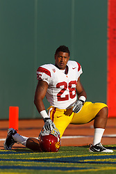 Oct 13, 2011; San Francisco CA, USA;  Southern California Trojans running back Marc Tyler (26) warms up before the game against the California Golden Bears at AT&T Park.  Southern California defeated California 30-9. Mandatory Credit: Jason O. Watson-US PRESSWIRE