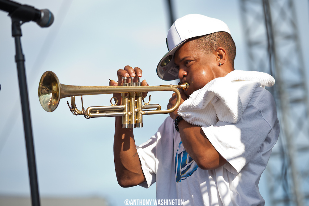 The Rebirth Brass Band performs as part of the DC Jazz Festival at the Capital River Front on Sunday, June 29, 2014 in Washington, DC.