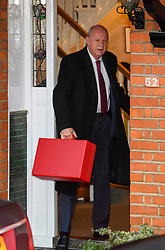 "© Licensed to London News Pictures. 04/12/2017. London, UK. First Secretary of State DAMIAN GREEN seen leaving his London home. The findings of an inquiry in to the conduct of MP Damian Green are due to be released, following allegations that ""extreme"" pornography was found on his computer during a police raid in 2018. Green was already under investigation for allegedly propositioning former Tory activist, Kate Maltby. Photo credit: Ben Cawthra/LNP"