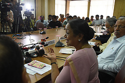 May 6, 2017 - Kolkata, India - Former Speaker of India Parliament Meira Kumar addressing at the Merchants' Chamber of Commerce (MCC) organized  a seminar of Challenge of Parliamentary democracy in India on May 06,2017 in Kolkata,India. (Credit Image: © Debajyoti Chakraborty/NurPhoto via ZUMA Press)