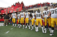 November 25, 2011: The Iowa Hawkeyes prepare to take the field before the start of the NCAA football game between the Iowa Hawkeyes and the Nebraska Cornhuskers at Memorial Stadium in Lincoln, Nebraska on Friday, November 25, 2011. Nebraska defeated Iowa 20-7.