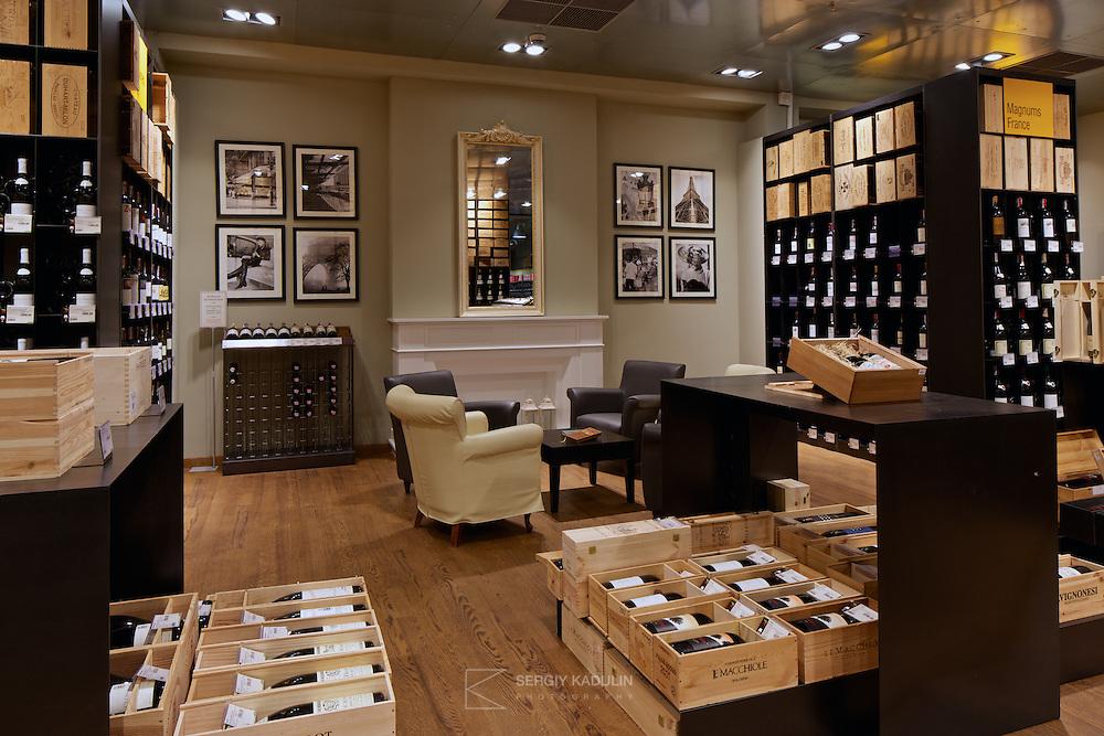 Good Wine interior photoshoot. Wine section. April, 2014.