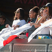 Japan fans look on as Japan play Chile in the cup quarter final of the Silicon Valley Sevens in San Jose, California. November 4, 2017. <br /> <br /> By Jack Megaw.<br /> <br /> <br /> <br /> www.jackmegaw.com<br /> <br /> jack@jackmegaw.com<br /> @jackmegawphoto<br /> [US] +1 610.764.3094<br /> [UK] +44 07481 764811