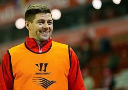 Liverpool's Steven Gerrard  - Photo mandatory by-line: Matt McNulty/JMP - Mobile: 07966 386802 - 10/02/2015 - SPORT - Football - Liverpool - Anfield - Liverpool v Tottenham Hotspur - Barclays Premier League