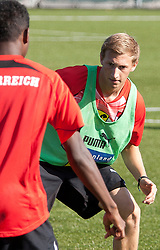 04.10.2011, Bad Tatzmannsdorf, AUT, OeFB, Nationalmannschaft Teamtraining, im Bild Daniel Royer und David Alaba, EXPA Pictures © 2011, PhotoCredit: EXPA/ Erwin Scheriau