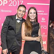 NLD/Amsterdam/201702013- Edison Pop Awards 2017, Brahim Fouradi en Nienke Dettmeijer