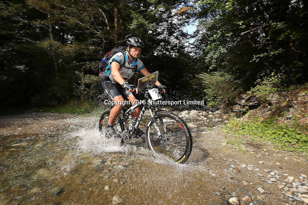 NELSON, NEW ZEALAND - April 4: GODZone C5 Adventure Race Day 3  Richie McCaw mountain bikes through the Porika track on April 4 2016 in Nelson, New Zealand. (Photo by: Evan Barnes Shuttersport Limited)