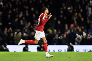 Lukas Nmecha (20) of Middlesbrough comes on as a substitute during the EFL Sky Bet Championship match between Fulham and Middlesbrough at Craven Cottage, London, England on 17 January 2020.
