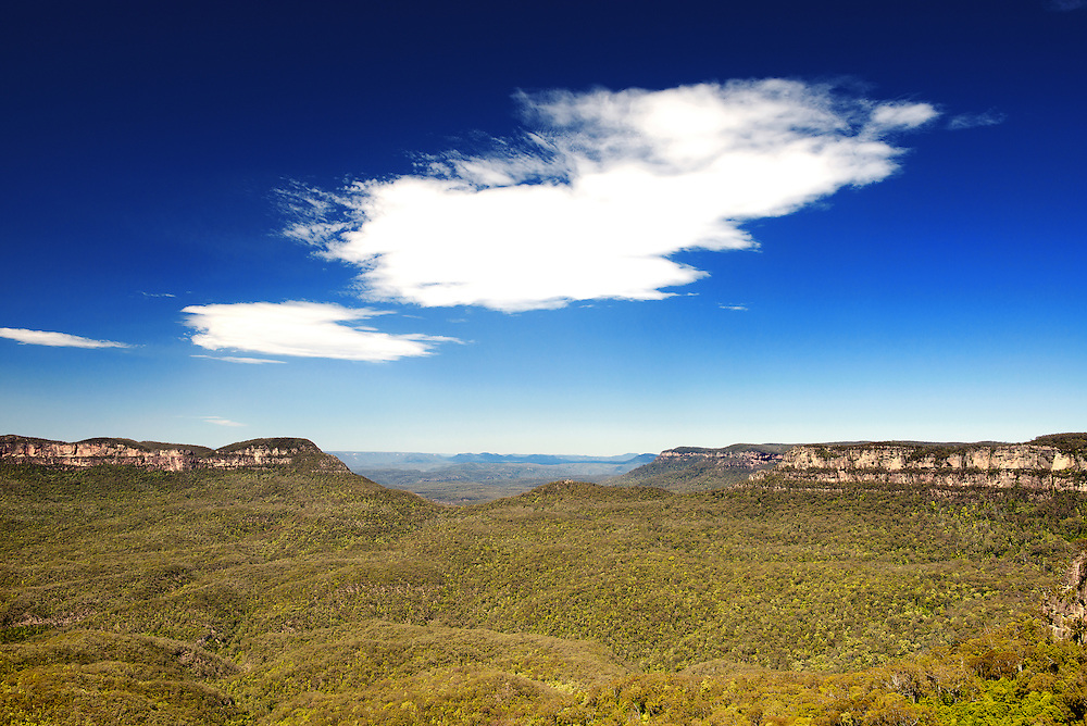 Jamison Valley at Blue Mountain of Sydney Australia