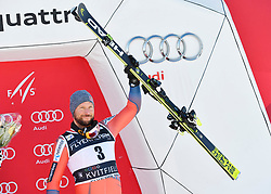 10.03.2018, Olympiabakken, Kvitfjell, NOR, FIS Weltcup Ski Alpin, Kvitfjell, Abfahrt, Herren, Flower Zeremonie, im Bild Aksel Lund Svindal (NOR) // Aksel Lund Svindal from Norway during the Flowers ceremony for the men's downhill of FIS Ski Alpine World Cup in Olympiabakken in Kvitfjell, Norway on 2018/03/10. EXPA Pictures © 2018, PhotoCredit: EXPA/ Jonas Ericson