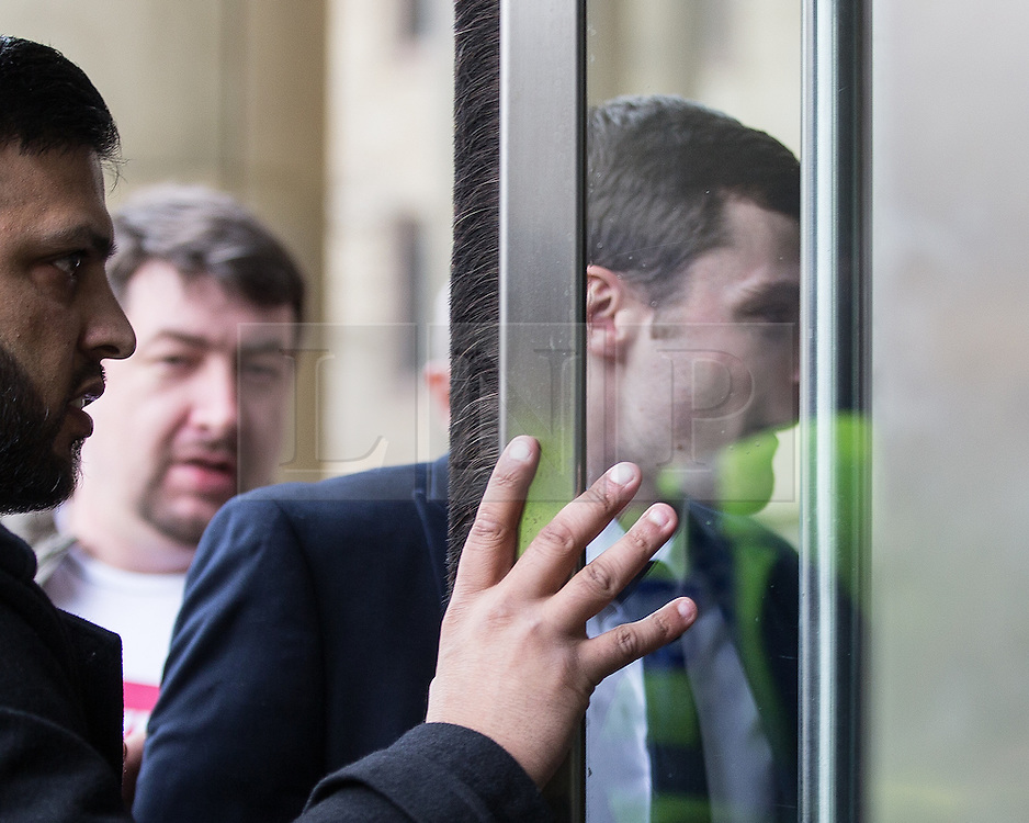 © Licensed to London News Pictures . 24/03/2016 . Bradford , UK . Ex England footballer ADAM JOHNSON arrives at Bradford Crown Court where he is due to be sentenced following his conviction for  sexual activity with a 15 year old girl . Photo credit : Joel Goodman/LNP