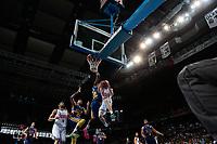 SPAIN, Madrid: Real Madrid's American player Jaycee Carroll during the Liga Endesa Basket 2014/15 match between Real Madrid and Ucam Murcia, at Palacio de los Deportes in Madrid on November 16, 2014.