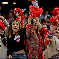 Jan 1, 2016; New Orleans, LA, USA; Mississippi Rebels fans in the stands during the second quarter in the 2016 Sugar Bowl against the Oklahoma State Cowboys at the Mercedes-Benz Superdome. Mandatory Credit: Derick E. Hingle-USA TODAY Sports