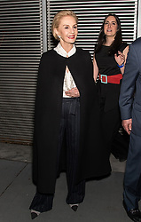 Fashion designer Carolina Herrera is seen leaving her last fashion show at MOMA during New York Fashion Week after stepping down and naming Wes Gordon as creative director of her brand. 12 Feb 2018 Pictured: Carolina Herrera. Photo credit: MEGA TheMegaAgency.com +1 888 505 6342
