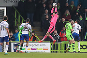 Forest Green Rovers goalkeeper Bradley Collins(1) collects the ball during the EFL Sky Bet League 2 match between Forest Green Rovers and Mansfield Town at the New Lawn, Forest Green, United Kingdom on 24 March 2018. Picture by Shane Healey.