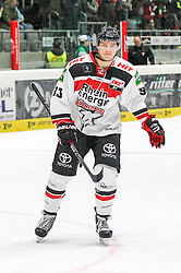 12.12.2014, Curt Fenzel Stadion, Augsburg, GER, DEL, Augsburger Panther vs Koelner Haie, 26. Runde, im Bild enttaeuschung bei Sebastian Uvira #93 (Koelner Haie) // during Germans DEL Icehockey League 26th round match between Augsburger Panther vs Koelner Haie at the Curt Fenzel Stadion in Augsburg, Germany on 2014/12/12. EXPA Pictures © 2014, PhotoCredit: EXPA/ Eibner-Pressefoto/ Kolbert<br /> <br /> *****ATTENTION - OUT of GER*****