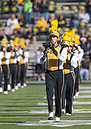 September 22 2012: The Hawkeye Marching Band plays on the field before the start of the NCAA football game between the Central Michigan Chippewas and the Iowa Hawkeyes at Kinnick Stadium in Iowa City, Iowa on Saturday September 22, 2012. Central Michigan defeated Iowa 32-31.