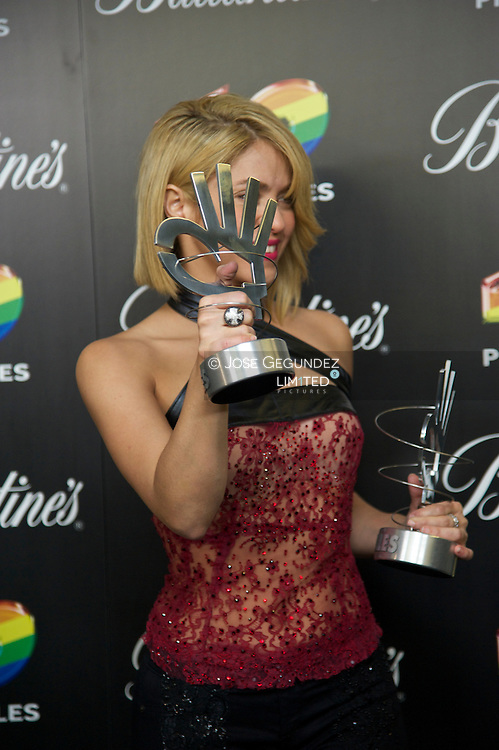 Shakira attends '40 Principales Awards 2011' press room at the Palacio de Deportes on December 9, 2011 in Madrid, Spain