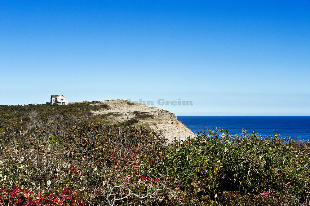 House overlooking Long Nook Beach, Cape Cod National seashore, Truro, Cape Cod, Massa