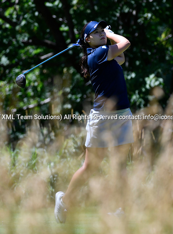 OLYMPIA FIELDS, IL - JULY 01: In Gee Chun of South Korea plays the ball from the fifth tee during the third round of the 2017 KMPG PGA Championship at Olympia Fields on July 1, 2017 in Olympia Fields, Illinois. (Photo by Quinn Harris/Icon Sportswire)