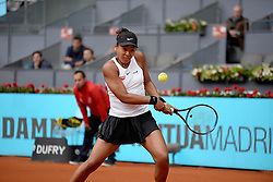 May 8, 2019 - Madrid, Spain - Naomi Osaka (JPN) in her match against Aliaksandra Sasnovich (BLR)during day five of the Mutua Madrid Open at La Caja Magica in Madrid on 8th May, 2019. (Credit Image: © Juan Carlos Lucas/NurPhoto via ZUMA Press)