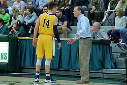 21 February 2017:  Nolan Ebel and Grey Giovanine during an College men's division 3 CCIW basketball game between the Augustana Vikings and the Illinois Wesleyan Titans in Shirk Center, Bloomington IL