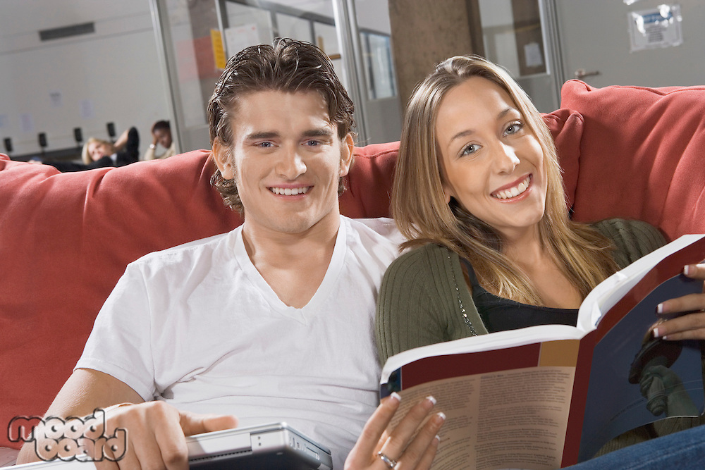 Couple Studying Together